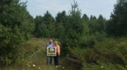 Bruce and Joan Pikas at their new conservation easement near Rowleys Bay