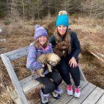 Sande Soloman and kids on trail 3.jpeg
