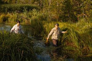 Dan-Collins-and-Nancy-Aten-in-wetland-by-Kelly-Avenson-2017 HDR